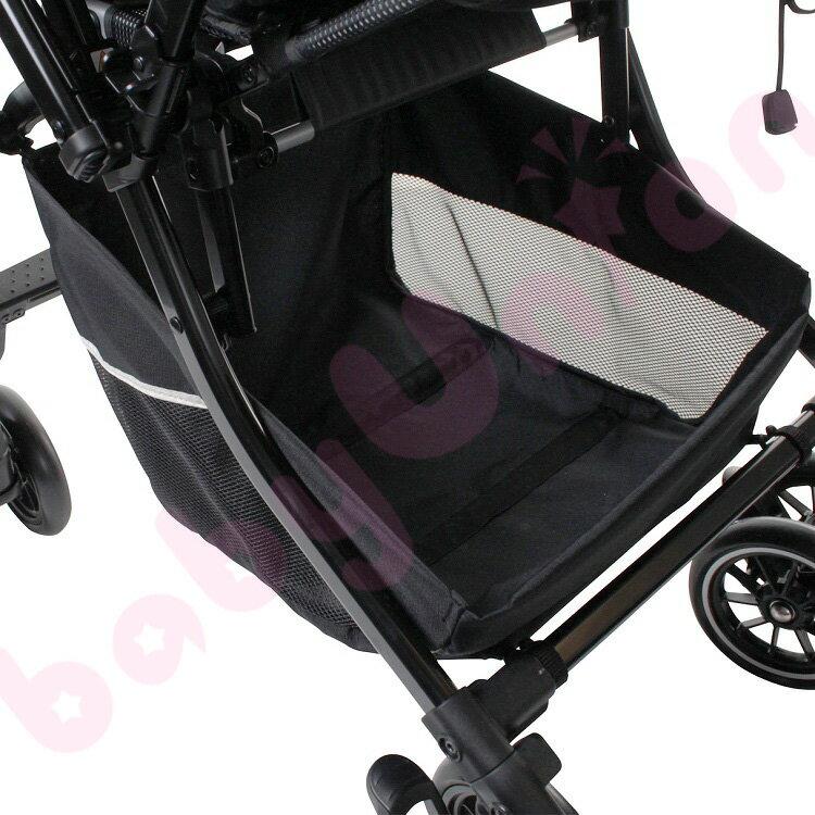 【點數下單送咖啡】Combi康貝 - Handy Auto 4 Cas PLUS 輕量四輪自動鎖放手推車 水晶黑 2