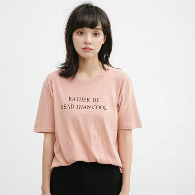 寬鬆字母印花短袖T恤樂天時尚館。預購。[全店免運]