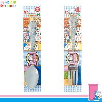 小叮噹週邊商品推薦日本製 哆啦A夢 小叮噹 機器貓 DORAEMON 不鏽鋼 湯匙湯勺 叉子 餐具 日本進口正版 101333