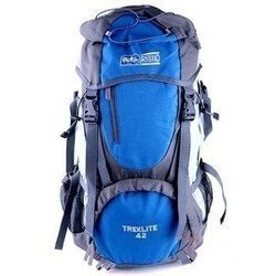 【H.Y SPORT】RHINO 犀牛G142後背包/戶外登山背包/背包客包.工作包(42公升)-藍/紅#附背包防雨套