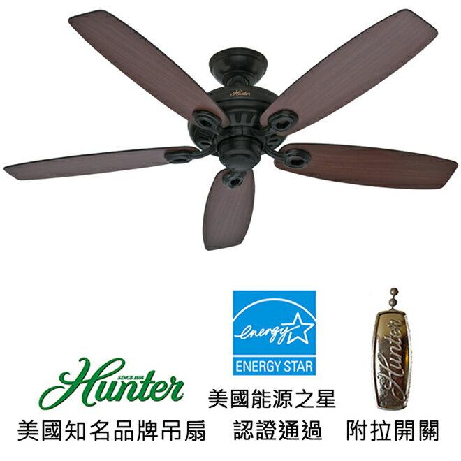 <br/><br/>  [top fan] Hunter Markham 52英吋能源之星認證吊扇(54111)平黑色<br/><br/>
