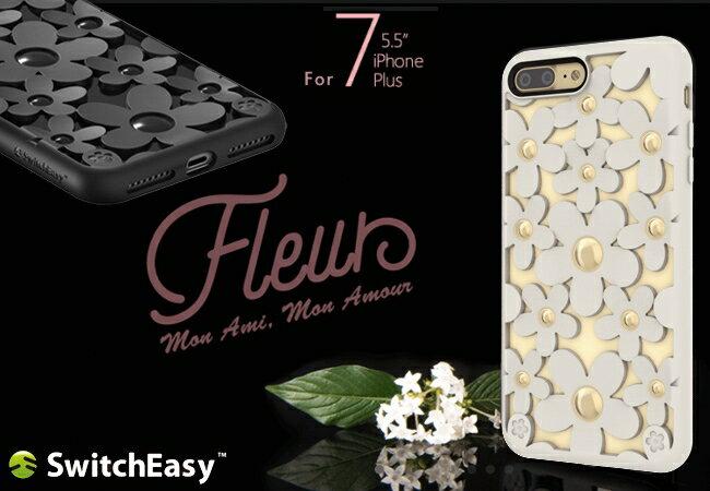 【愛瘋潮】SwitchEasy Fleur iPhone 7 Plus(5.5吋) 3D花朵吸震防摔保護殼 手機殼