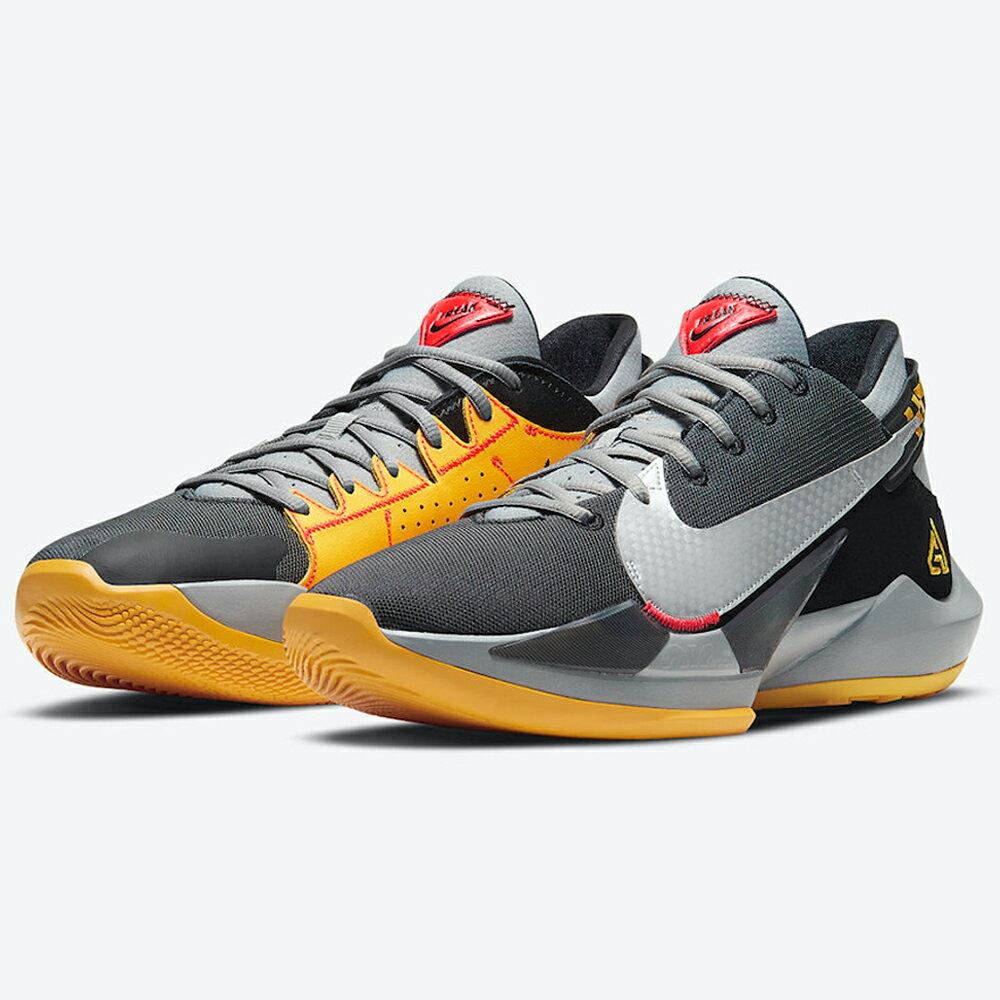 【領券最高折$300】Nike ZOOM FREAK 2 EP 男鞋 籃球 字母哥二代 緩震 穩定 氣墊 靈敏 灰黑黃【運動世界】CK5825-006