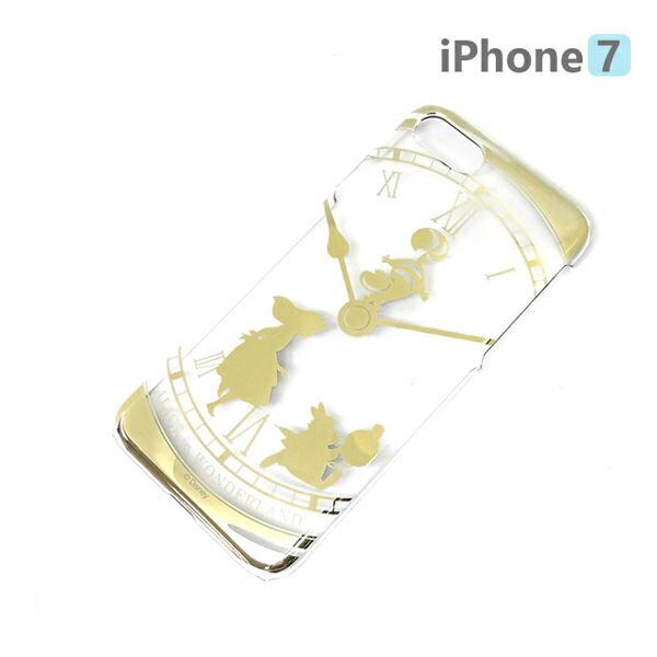 【日本 PGA-iJacket】正版 迪士尼 iPhone7 4.7吋 PC金箔透明系列 硬殼 手機殼 - 愛麗絲