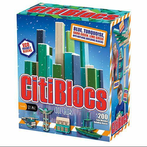~美國CitiBlocs~骨牌 積木~藍綠200