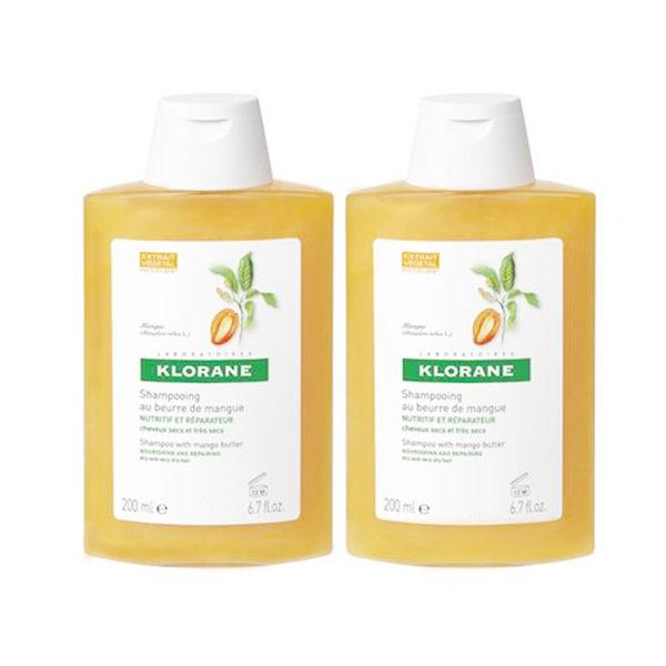 KLORANE 蔻蘿蘭 滋養修護洗髮精200ml*2