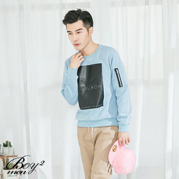 ☆BOY-2☆ 【JN7477】美式BLACK男裝長袖T恤 3