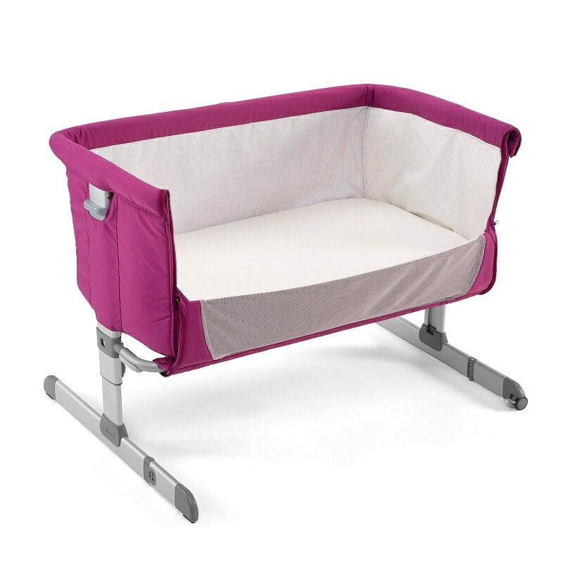 【贈抗菌液60ml+玩偶(隨機)】義大利【Chicco】Next 2 Me多功能移動舒適嬰兒床(紫紅色) 3