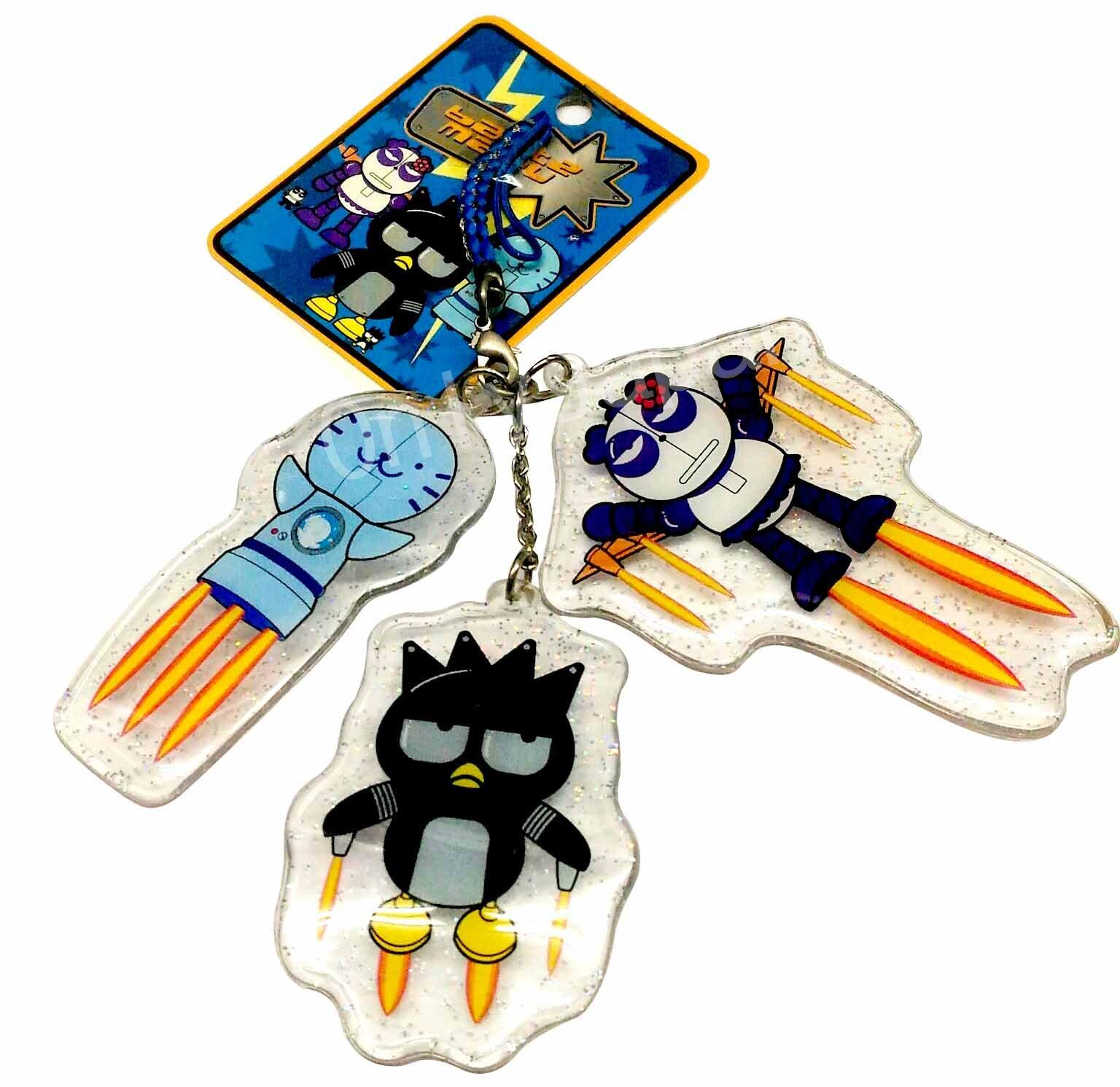 【真愛日本】6040700049 三人物亮粉根付 三麗鷗 酷企鵝 xo 海豹 收藏 擺設 吊飾 鑰匙圈 造型吊飾 日用品