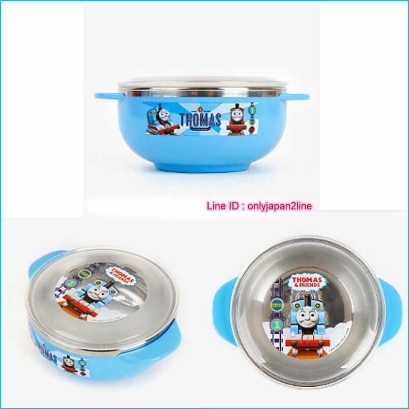 【真愛日本】 16112100005不鏽鋼碗附蓋S-湯瑪士  THOMAS & FRIENDS 湯瑪士 小火車  湯碗 餐具