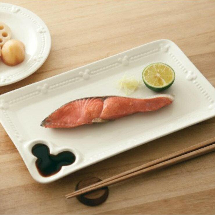 |現貨|日本空運 Disney 米奇浮雕造型長盤 / 壽司盤 / 功能盤|日本原裝盒|和風食器 米奇 陶瓷盤 2