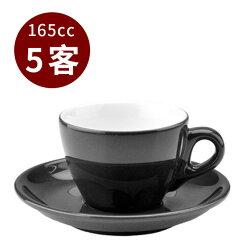 金時代書香咖啡 TIAMO 13號 咖啡杯盤組 5客/組 165cc黑 HG0756BK