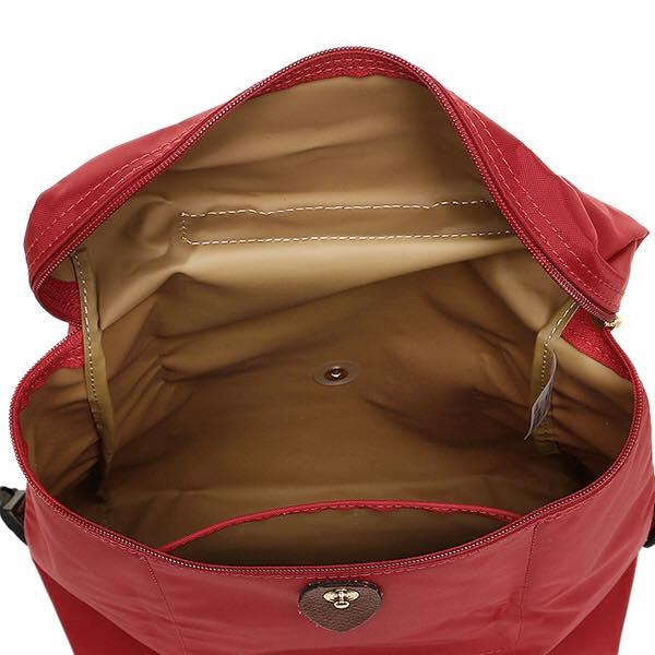 【LONGCHAMP】 LE PLIAGE 紅色折疊後背包 1