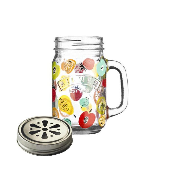 《 Kilner 》握把玻璃杯-繽紛水果/400ml