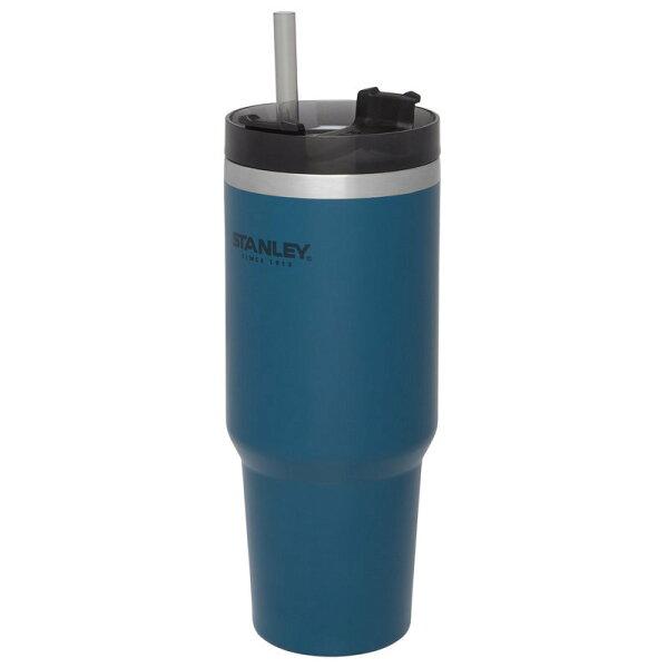 【【蘋果戶外】】Stanley1002663藍880ml美國冒險系列真空吸管隨手杯酷冰杯保溫杯保冰保冷10-02663