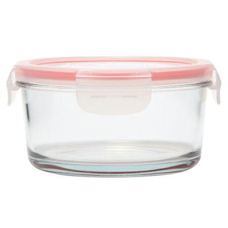 耐熱玻璃保鮮盒 550ml 圓形