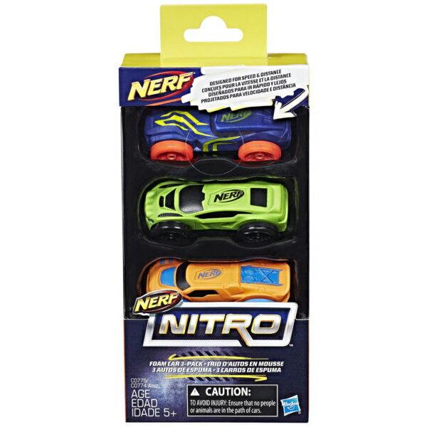 《 NERF 樂活打擊 》NERF NITRO 極限射擊賽車3入車輛組 Set1