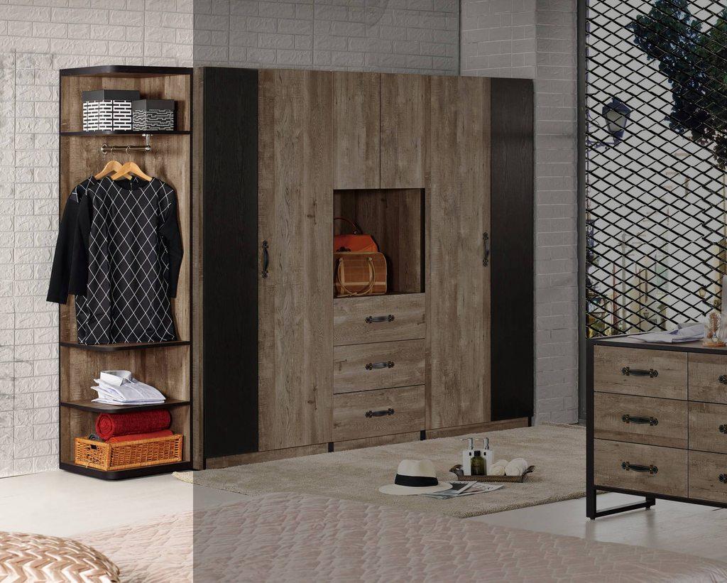 【尚品傢俱】CM-603-5 格雷森1.5尺開放置物衣櫥