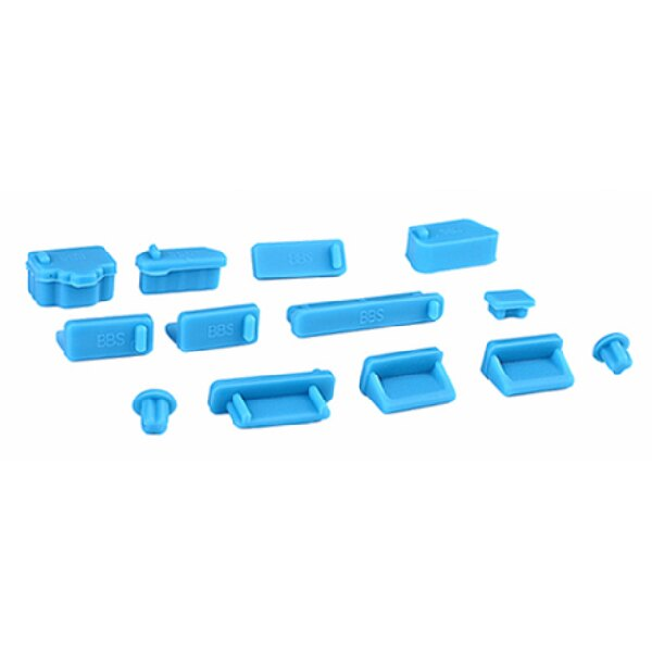 NB 筆電 防塵塞【13件套組】矽膠 防塵蓋 筆記型電腦 USB 防塵 (V50-0107) 1