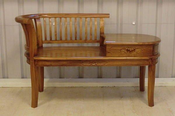 【尚品傢俱】640-28 司迪樂 柚木電話椅/長凳/矮凳/休閒椅/輔助椅~