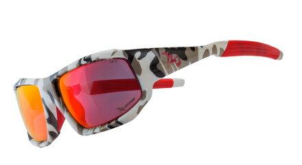 【【蘋果戶外】】720armourB370-6RockAsia亮澤迷彩灰紅鍍膜PC防爆飛磁換片自行車眼鏡風鏡偏光防爆眼鏡運動太陽眼鏡