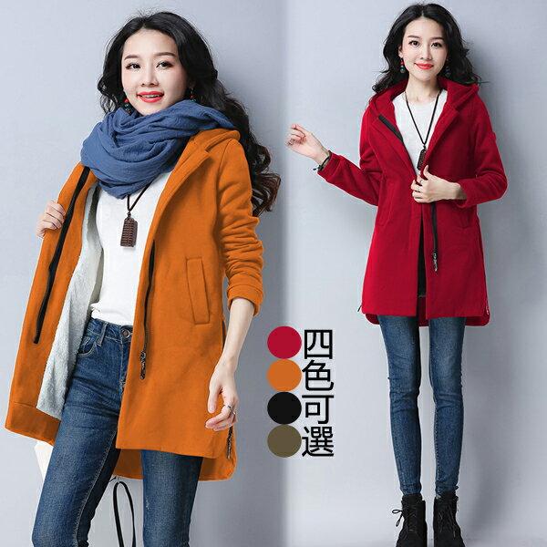 韓版拉鏈造型連帽外套 (4色)