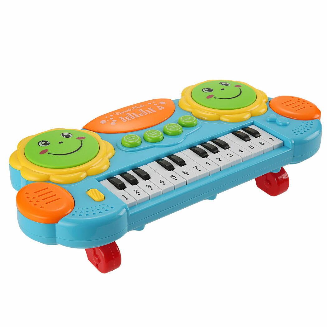 Baby Kids Educational Development Music Instrument Toy Battery Electronic Organ Keyboard Hand Beat Pat Drum Piano 2
