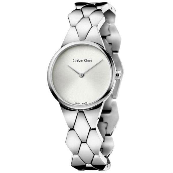 CK蜿蜒系列(K6E23146)盤旋蜿蜒手環腕錶白面28mm