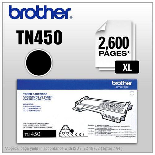Tn450 (Tn-450) High-Yield Toner, 260 Page-Yield, Toner