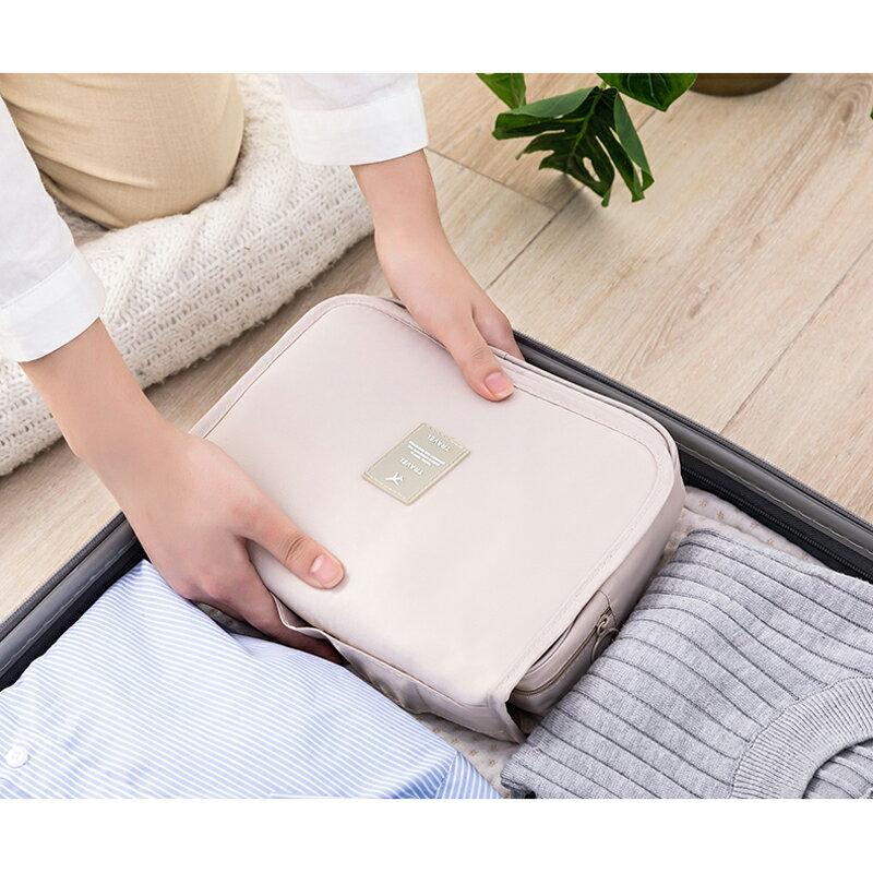 台灣現貨 旅行化妝包 大容量 收納包 收納袋 出國旅行包 拉鏈3C手機耳機用品收納袋多功能女生 保養品小包 8