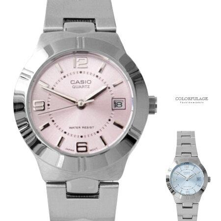CASIO卡西歐 粉嫩色系數字刻度石英手錶 清新女孩腕錶 實用日期窗 柒彩年代【NE1865】原廠公司貨 - 限時優惠好康折扣