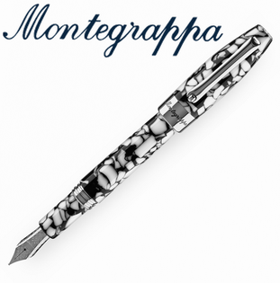義大利Montegrappa萬特佳財富馬賽克系列-鋼筆(黑白)ISFOB_IC支