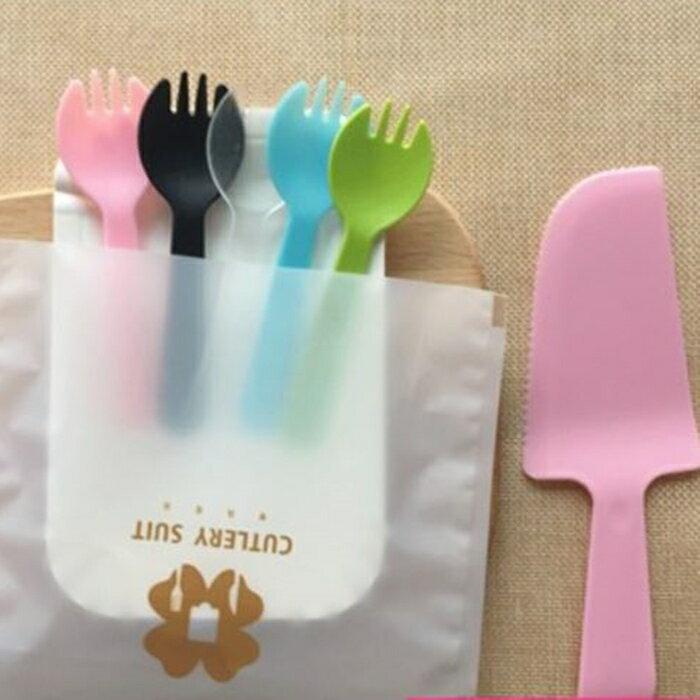 [Hare.D] 一次性 蛋糕盤組 彩色 10叉10盤1鏟 派對 生日 會場佈置 餐具組 餐盤組 烘培蛋糕
