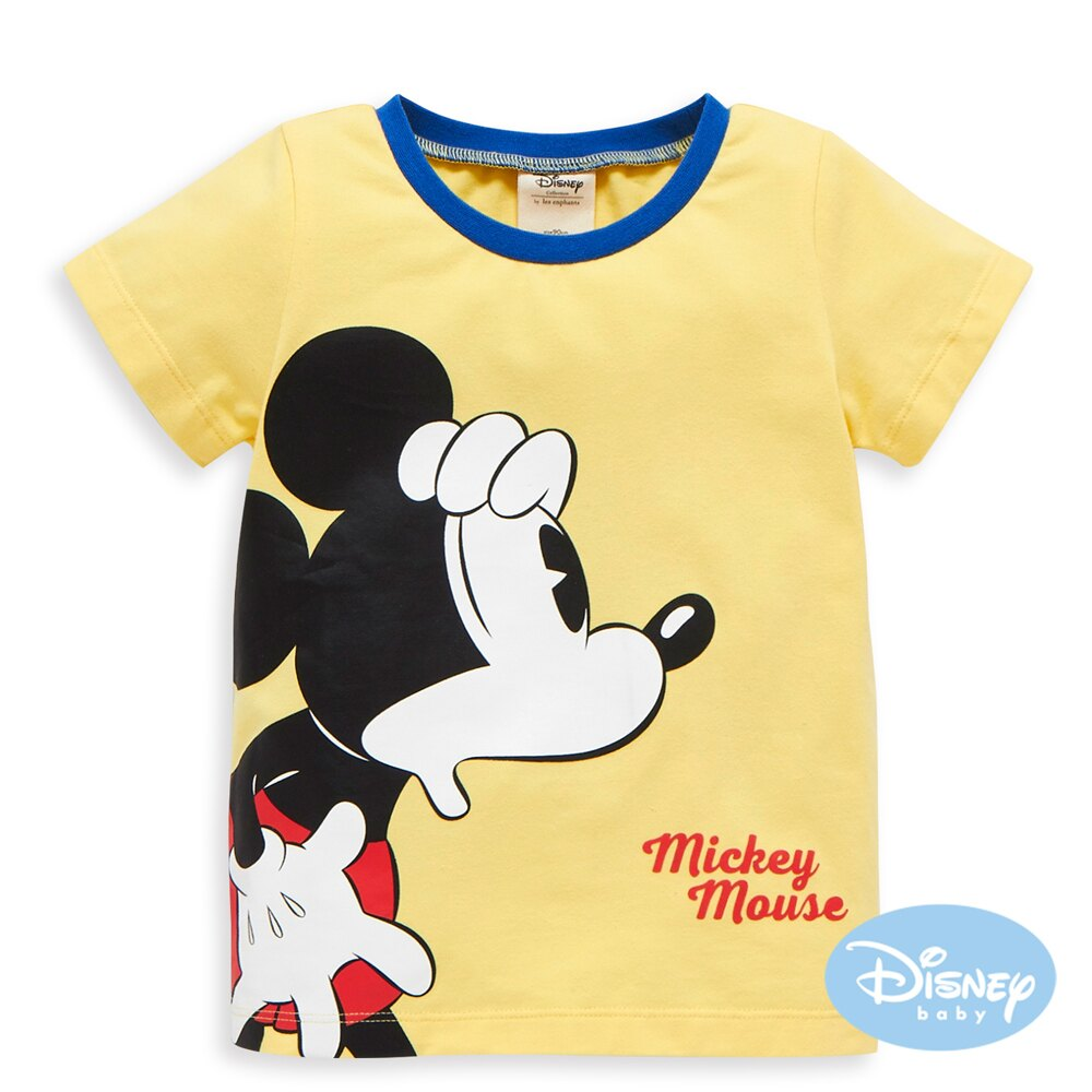 Disney baby 尋找米奇短袖上衣-黃色