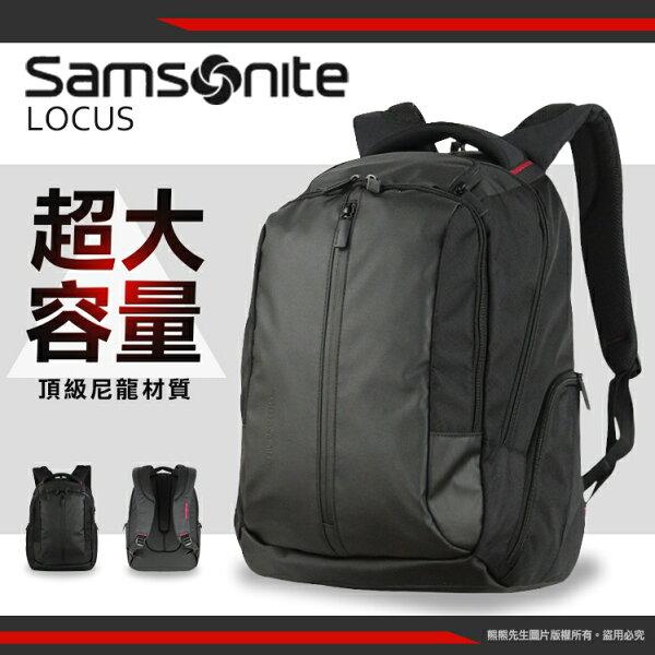 【五月最狂就是我!專區最低價】《熊熊先生》新秀麗Samsonite後背包15.4吋筆電包LOCUSVII大容量Z36寬版背帶雙肩包電腦休閒包肩背包