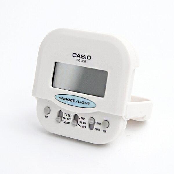 鬧鐘 CASIO純白口袋型電子鐘【NVC10】柒彩年代