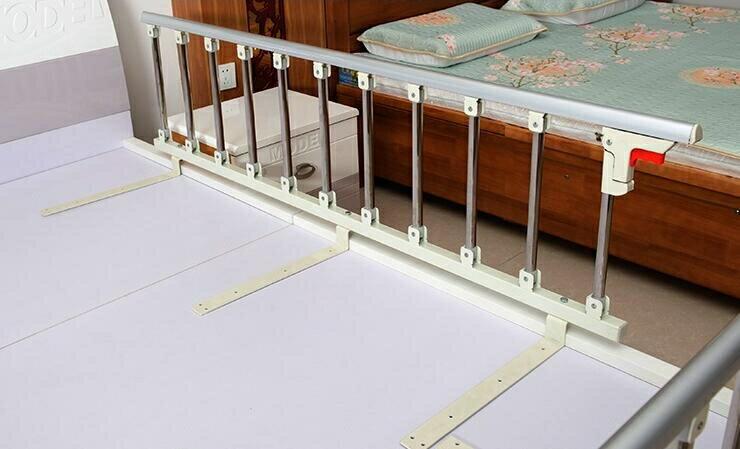 燊億加厚不銹鋼折疊護欄老人兒童防摔護理病床邊圍欄檔扶手免打孔 小明同學