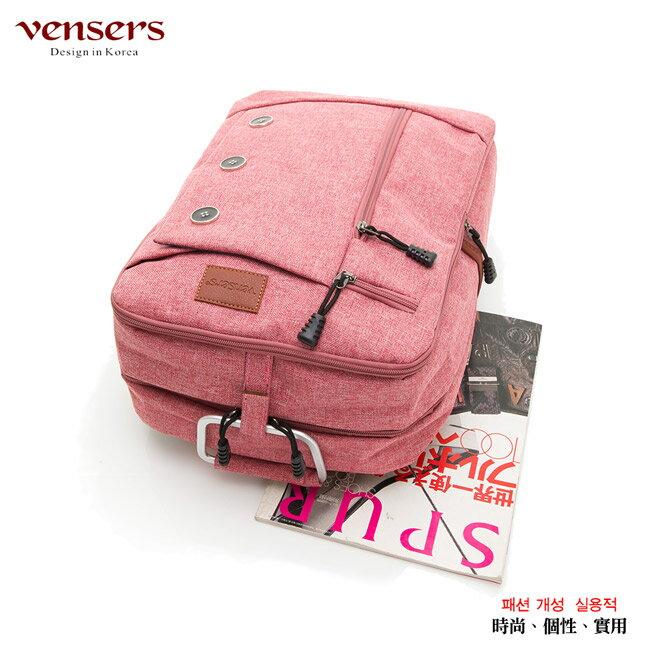 【vensers】簡約丹寧牛仔後背包(R00061605粉色) 2