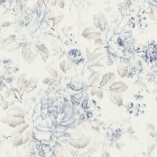 rasch2018Ladies516012藍色花紋壁紙DIY工具套餐牆紙