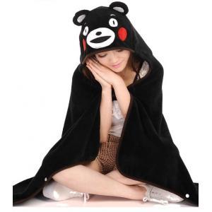*vivi shop*可愛卡通宅人日本熊本熊 & 史迪奇 龍貓 輕鬆熊 雙面珊瑚絨加厚 加長披風 連帽披肩 抖篷 毯子(隨機附贈-徽章or可愛卡通零錢包)