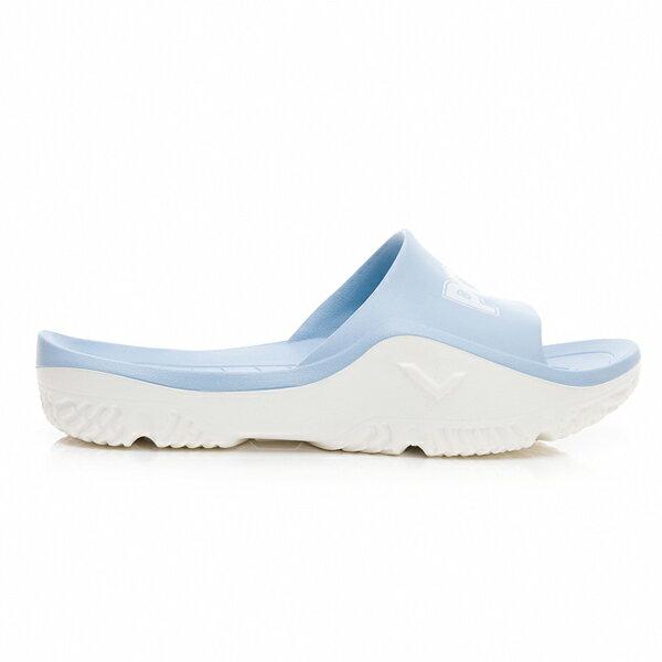 《超軟Q防水拖》Shoestw【92U1FL07PB】PONY PARK-X 防水拖鞋 海灘拖鞋 軟Q 拖鞋 水藍白 女生尺寸 3