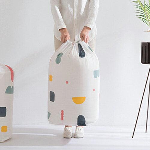PS Mall 圓筒束口收納袋 棉被收納袋 大容量居家雜物收納防塵袋【J521】 1
