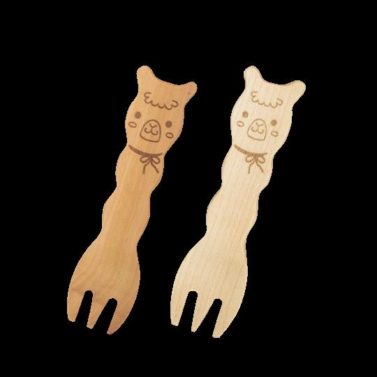 動物造型原木湯匙