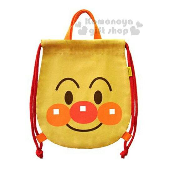 〔小禮堂〕麵包超人 日製束口後背包《膚色.大臉.可手提》兒童使用
