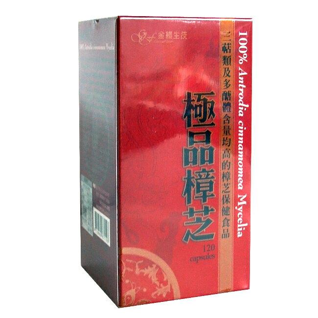 (買2送1)【金穎】極品樟芝(120粒/盒)