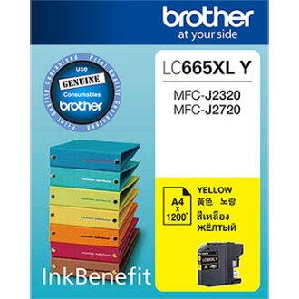 Brother LC665XL-Y 原廠黃色墨水匣 適用機種:MFC-J2320、MFC-J2720