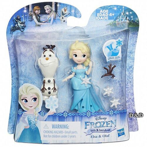 《 Disney 迪士尼 》冰雪奇緣迷你公主及朋友組 - 艾莎與雪寶