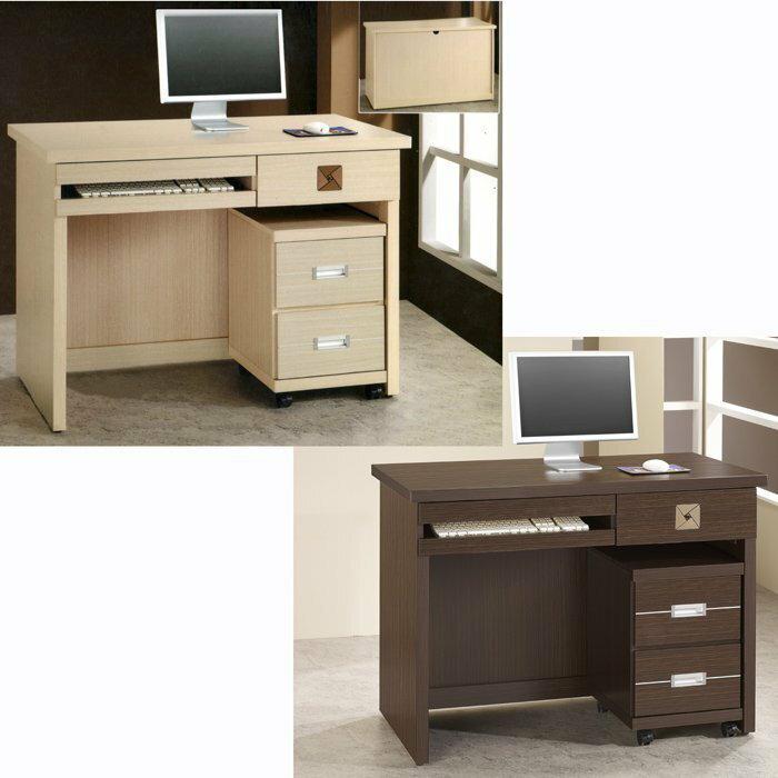 ~尚品 ~736~19 安東尼 白橡 胡桃 3.5尺書桌^(不含活動櫃^) ^~ 4.2尺