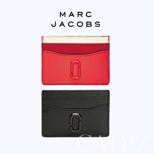 美國正品 Marc jacobs Snapshot DTM Card Case 黑紅防刮牛皮卡片短夾 M0014527