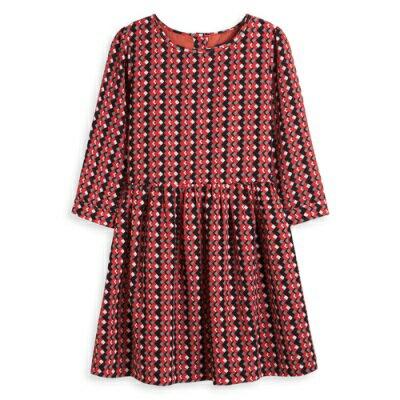 Little moni 清新幾何七分袖洋裝